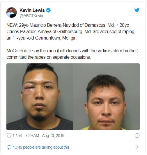 TwoMarylandRapistsTweet