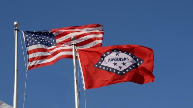 AmericanArkansasFlags